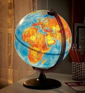 11 Best World Globes For Kids   Children     Brilliant Maps HearthSong Electric Illuminated Globe