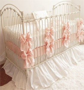 A Princess Baby Bed   going home Homemade Princess Baby Bedding by yours truly  Total spent  No more than   150  Enjoy