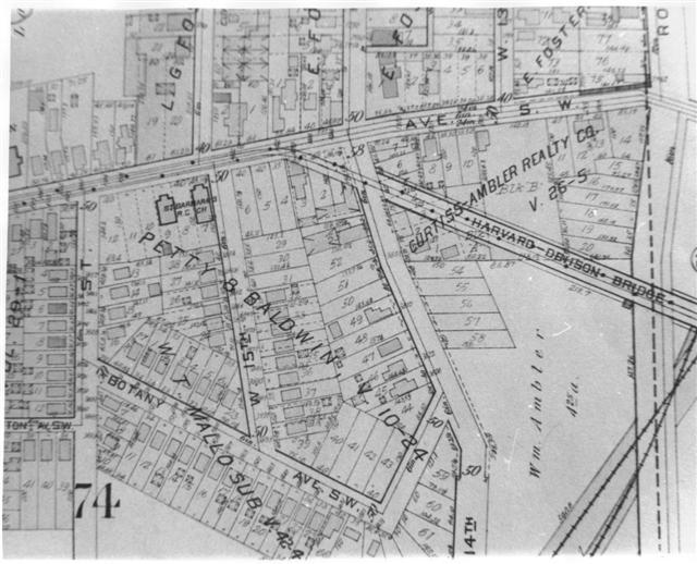 Property map  Brooklyn  Ohio   1900   Area south of Denison Ave  at     Property map  Brooklyn  Ohio   1900   Area south of Denison Ave