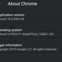 About Chrome Details in Android
