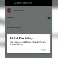 Adblock Plus in Microsoft Edge Android
