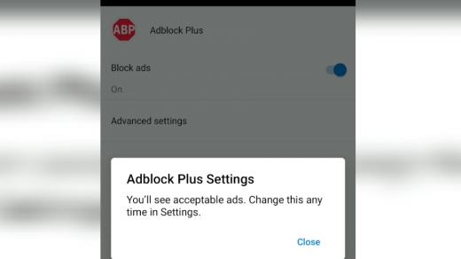 Adblock Plus in Microsoft Edge Android