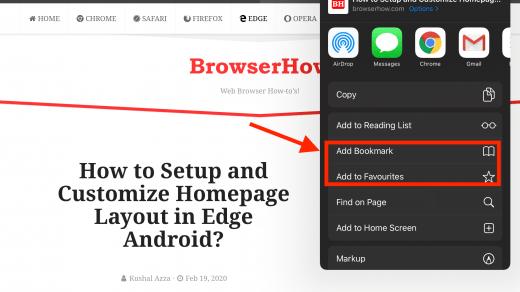 Add to Bookmark and Favorites in Safari on iPad