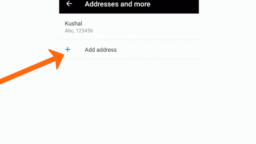 Add Address in Microsoft Edge Android