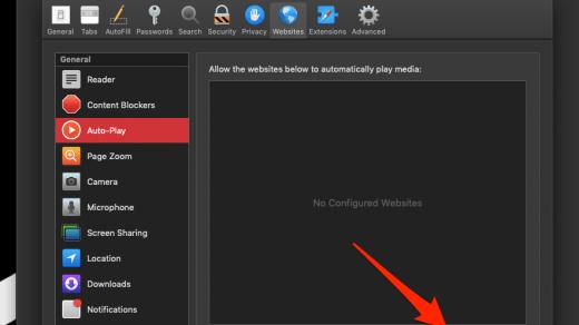 Allow Auto-Play Sound in Safari Browser Mac OS