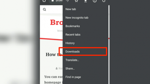 Chrome Android Downloads Tab