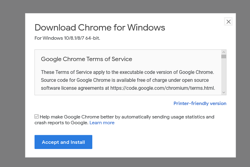 Download Chrome for Windows 10/8.1/8/7 64-bit