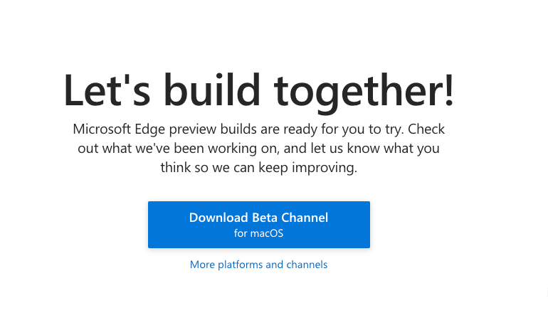 Download Microsoft Edge for Mac OSX