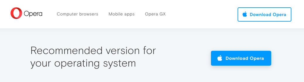 Download Opera for Mac OSX
