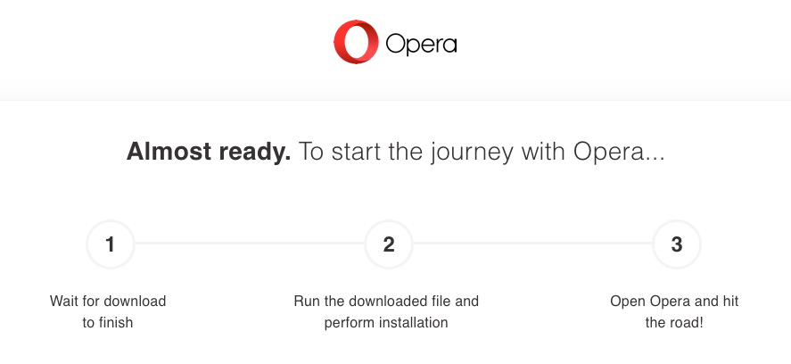 Download and Install Opera