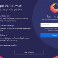 Firefox Browser Welcome Screen