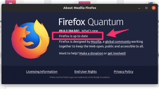 Firefox Quantum is up to date