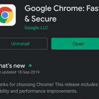 Google Chrome on Play Store