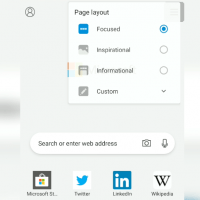 Page layout options in Edge Android