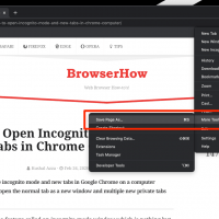 Save Webpage for Offline access in Chrome Computer