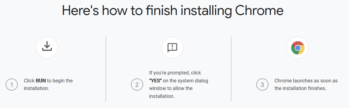 Steps to Install Chrome on Windows OS