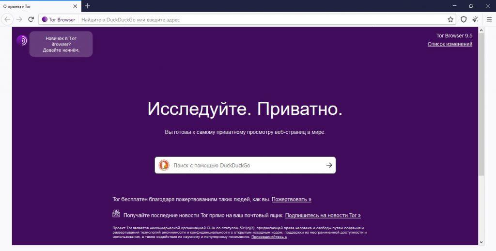 Tor Browser логотипі