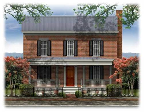 BSA Home Plans  Westover  Federal  Historic