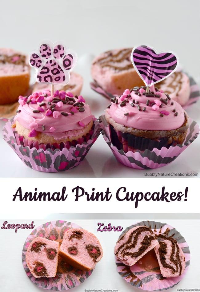 Animal Print Cupcakes Leopard Cake And Zebra Cake