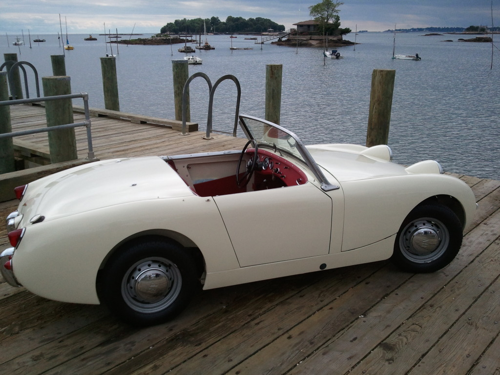 1961 Austin Healey Sprite for sale     Bo     rotisserie restoration     People