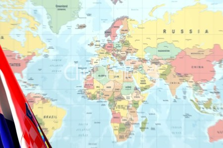 Croatia on world map full hd pictures 4k ultra full wallpapers flag pin placed on world map in the capital of croatia zagreb stock flag pin placed on world map in the capital of croatia zagreb puzzle with the national gumiabroncs Choice Image