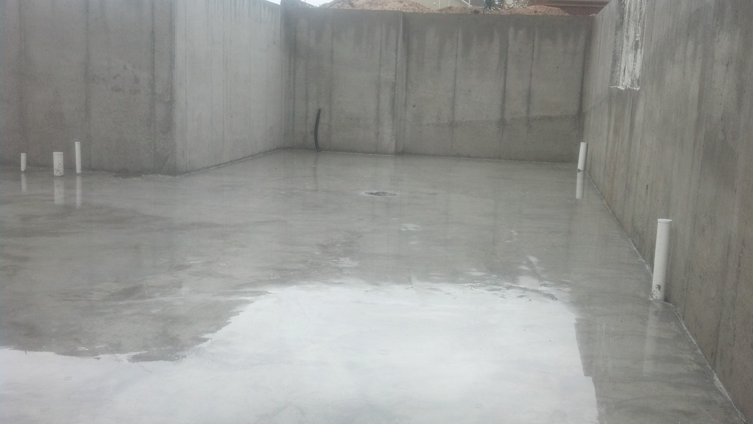 Garage Floor And Basement Floor And Stairs Poured Taken Today | Basement Stairs In Garage | Deck | Outside | Back | Epoxy Coating | Easy Diy