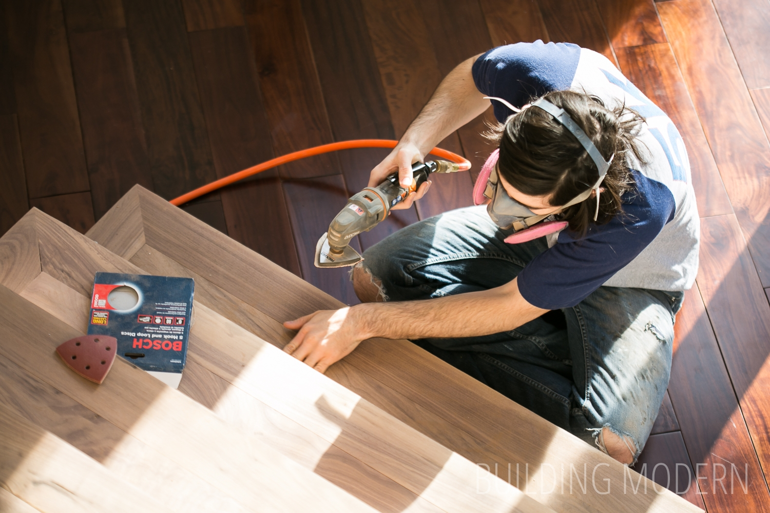 Foyer Stairs Sanding And Making Wood Filler   Sanding And Staining Stairs   Pine   Stair Railing   Wood Stairs   Stair Case   Stair Risers