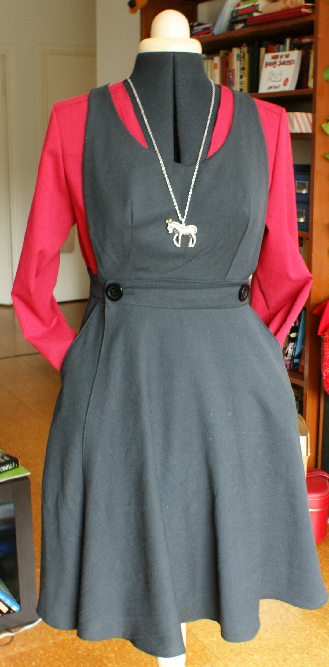 Uniform Inspired Pinafore Dress Sewing Projects