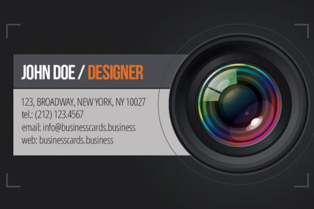 Free Photography Business Card template   Business Cards Templates Business Card Preview  front and back sides