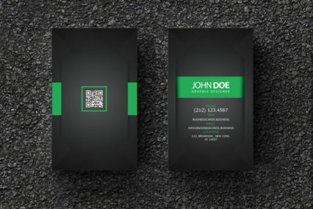QR Code Business Card Templates   Business Cards Templates Free Business Card PSD Template for Graphic Designer