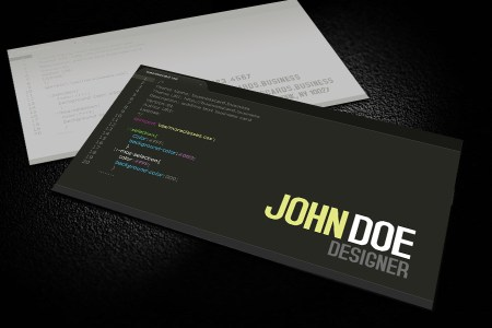 Programmers Business Card Templates   Business Cards Templates Free Developer Business Card Template for Photoshop