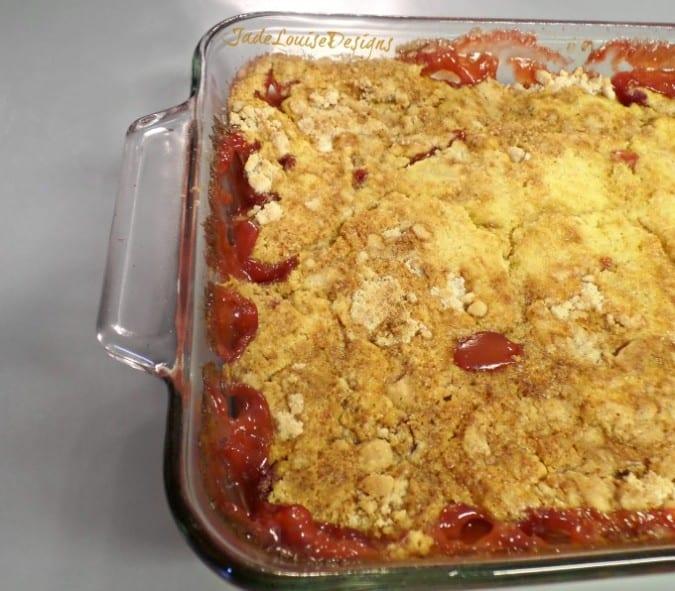 Rhubarb Cake Dump Recipe