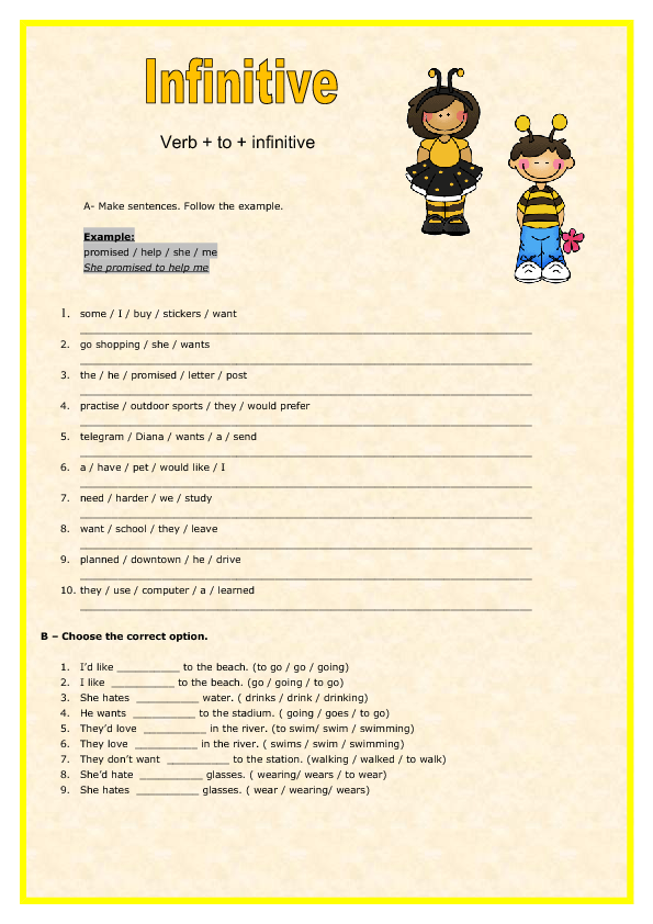 Verb Worksheets Grade 7