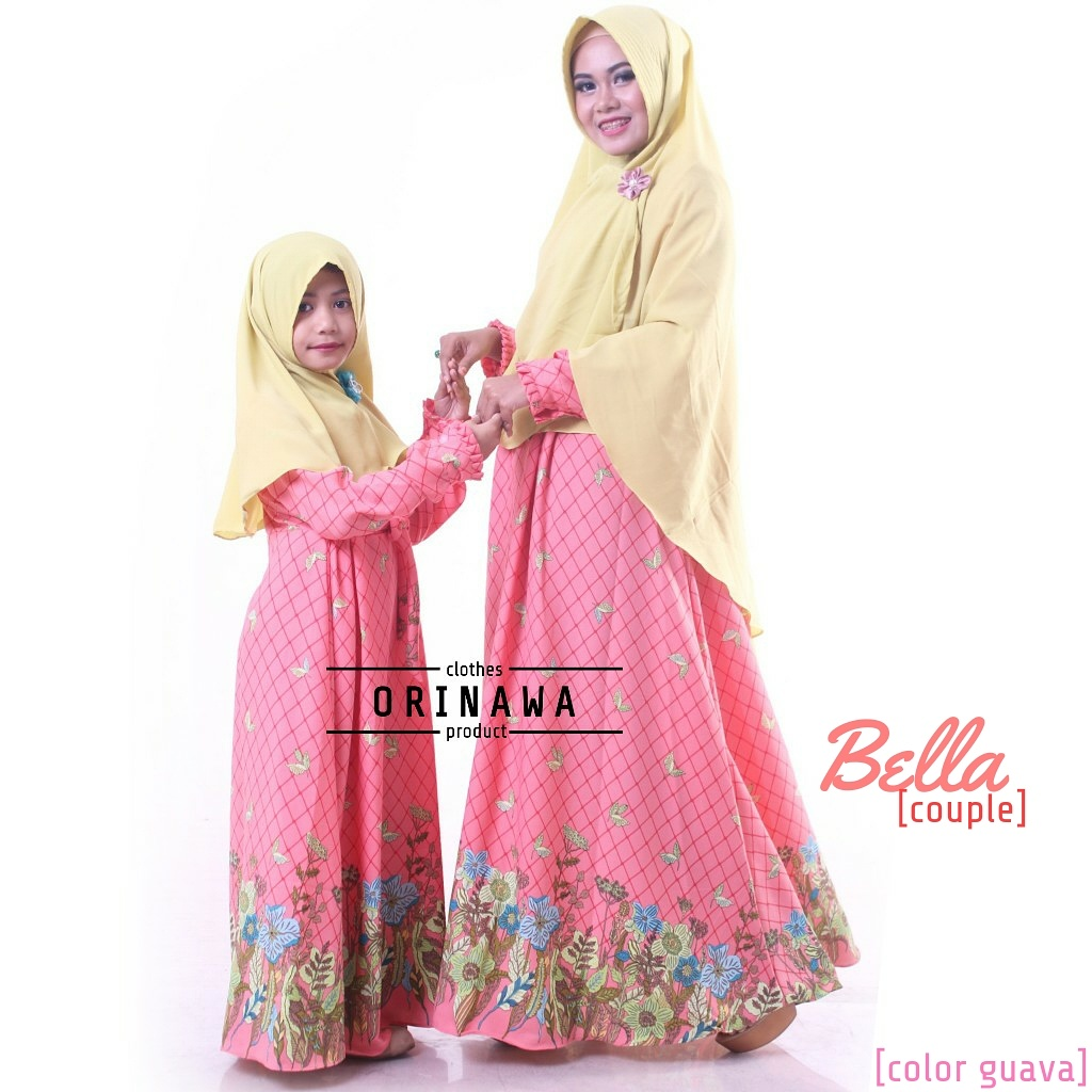 Bella Set Distributor Gamis Couple Ibu Anak Butik Destira
