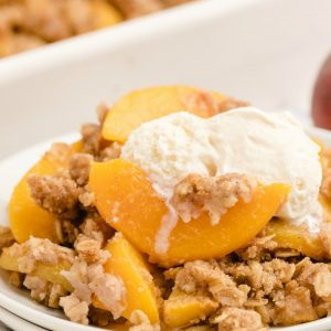 How to make Peach Crumble recipe