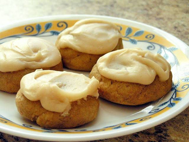 Pumpkin Ginger Cookies with Browned Butter Frosting