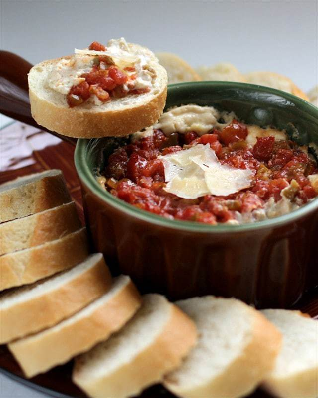 GREEN CHILE PARMESAN DIP with TOMATOES {DEL MONTE!}