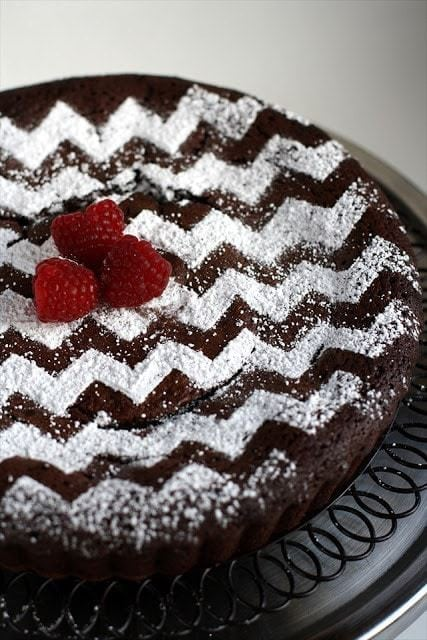 Chevron Pattern on Cake: Butter with a Side of Bread