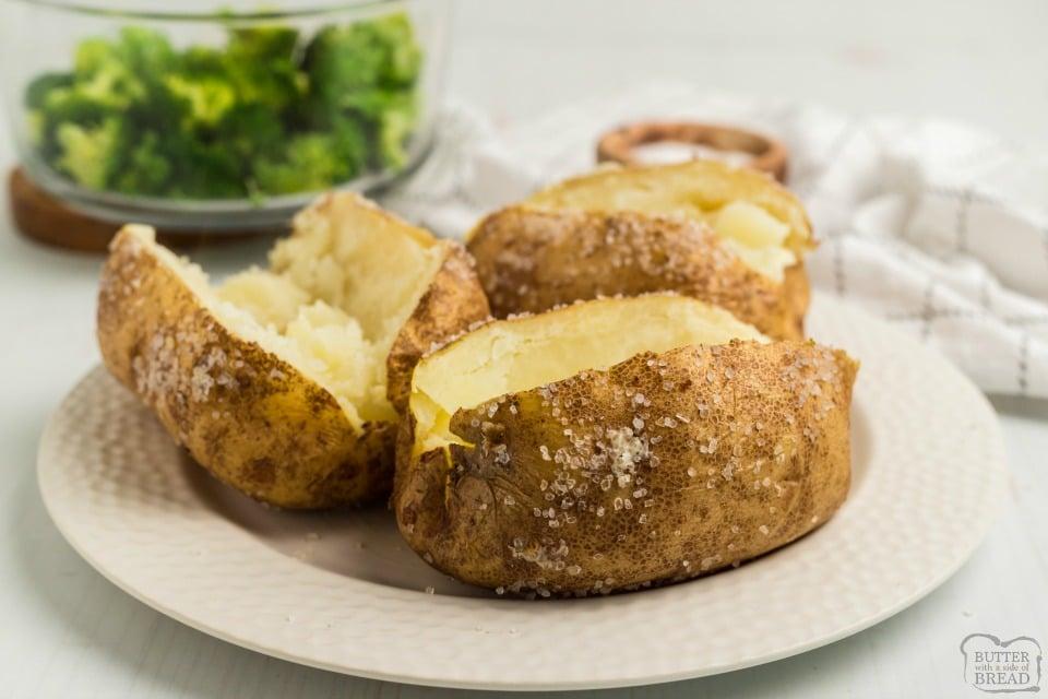 easy way to bake potatoes