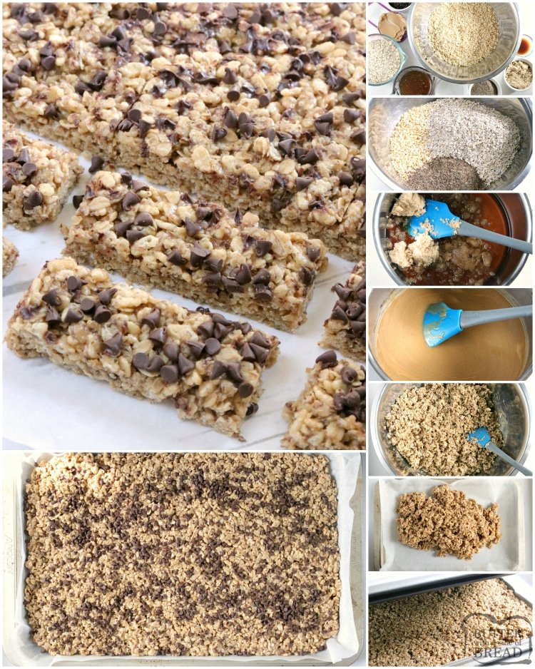 Step by step instructions on how to make homemade granola bars