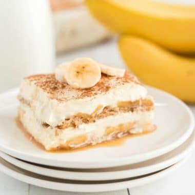 Layered Banana Cream Dessert Tiramisu
