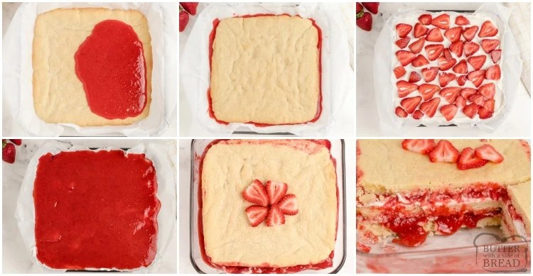 How to make strawberry shortcake bars