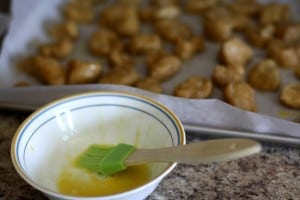 HOMEMADE WHOLE WHEAT SOFT PRETZEL BITES: Butter with a Side of Bread