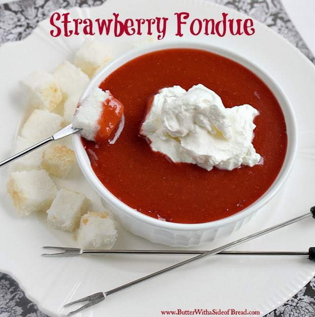 Strawberry Fondue is a light and refreshing (and super easy!) dessert that your family and friends will love - plus your options for dippers are endless!