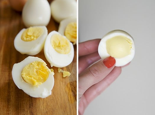 hard boiled eggs in the oven, butter with a side of bread