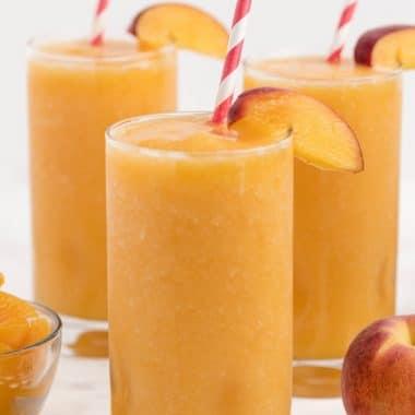 Peach Homemade Slurpee
