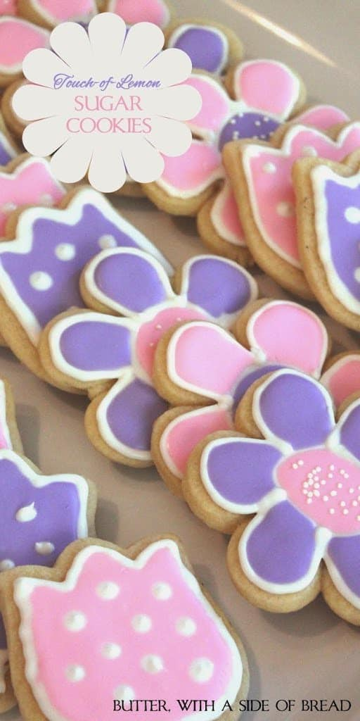 These sugar cookies are so cute and fun to make! With a touch of lemon in them they are an oh so delicious little twist on your favorite sugar cookies!