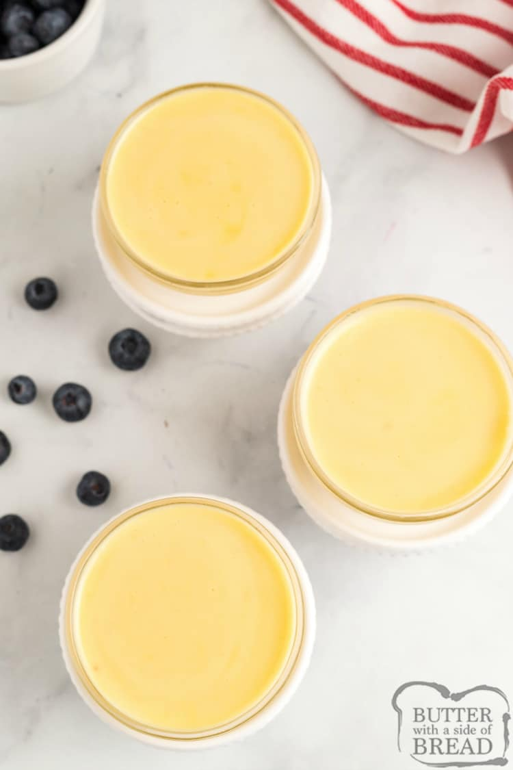 Homemade Vanilla Pudding recipe that is easy to make and tastes so much better than the kind from a box! Just a few simple ingredients in this easy vanilla pudding recipe that can be served as a snack or dessert.
