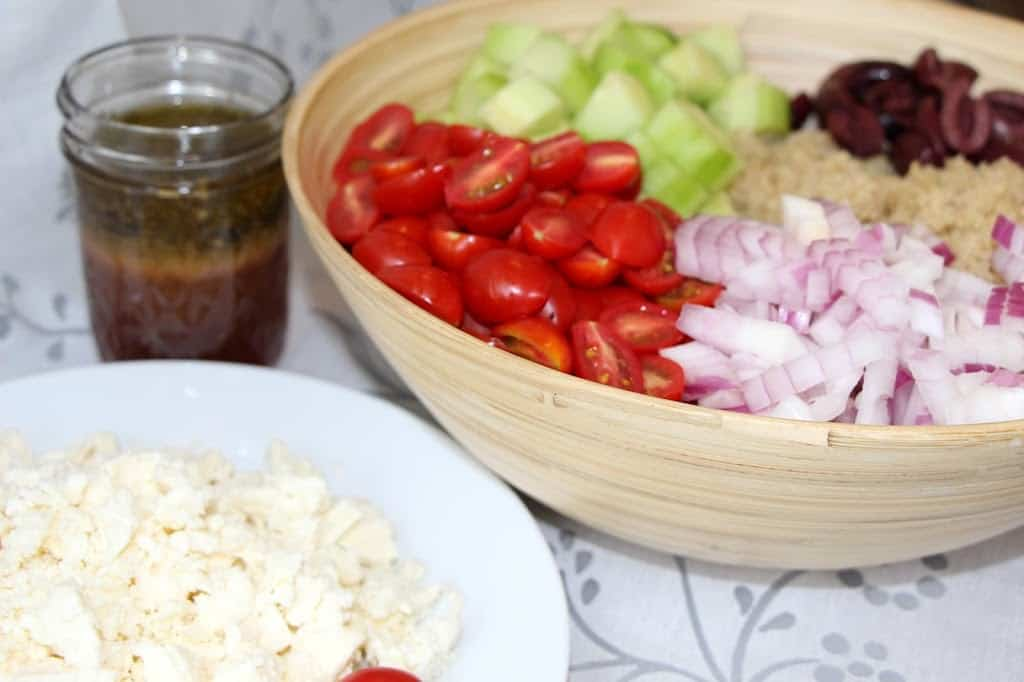 GREEK QUINOA SALAD: Butter With A Side of Bread