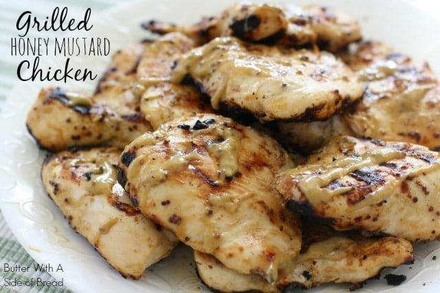Grilled Honey Mustard Chicken recipe with a simple 4 ingredient sauce that's incredible! Yields perfectly grilled, tender, juicy chicken with flavorful sauce.